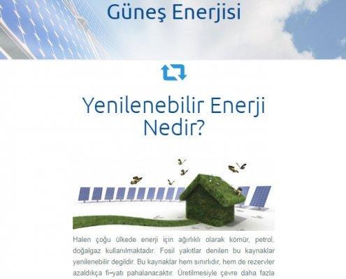 güneş paneli website tasarımı