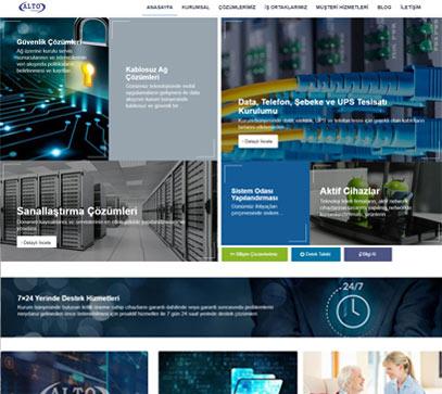 alto teknoloji alt yapı firması website tasarımı