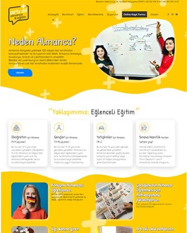 artıdil yabancı dil kursu website tasarımı