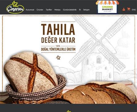çınarım fırın unlu mamuller e-ticaret sitesi tasarımı