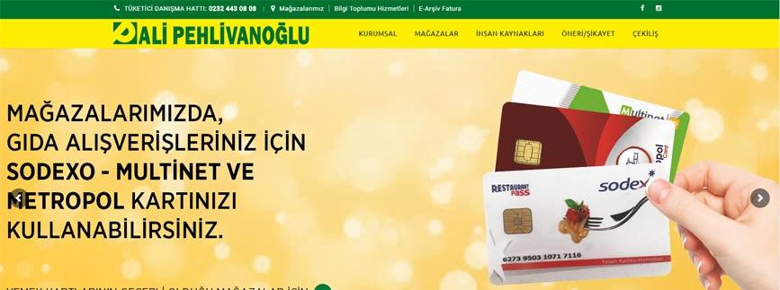 pehlivanoğlu market website tasarımı